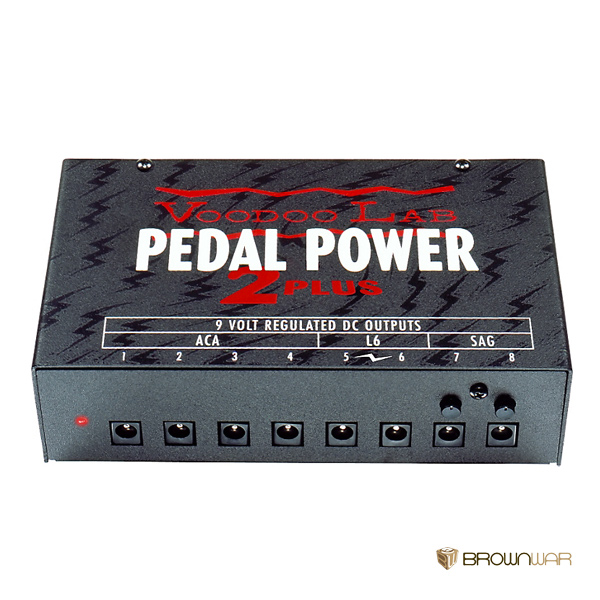 voodoo lab pedal power 2 plus brown war store. Black Bedroom Furniture Sets. Home Design Ideas